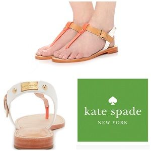 NEW♠️KATE SPADE SKY T-STRAP LOGO SANDALS♠️